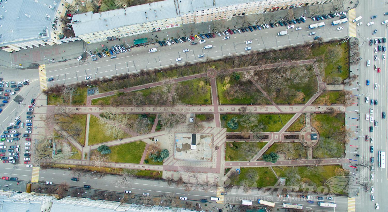 аэрофотосъемка кольцовский сквер воронеж