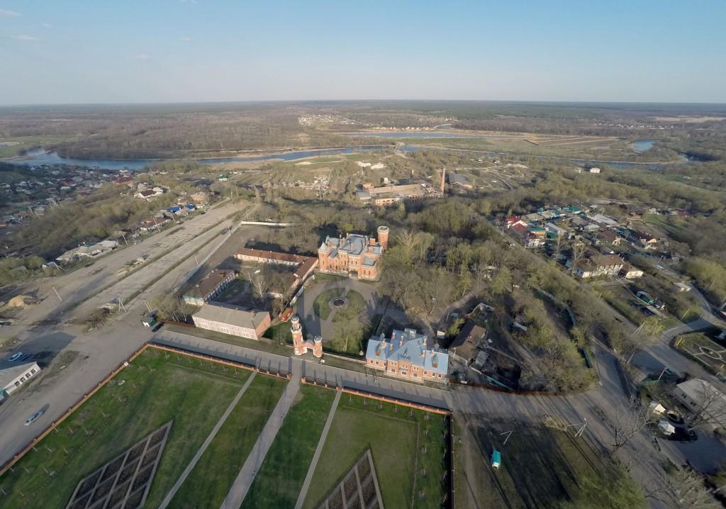 аэрофотосъемка замка принцессы ольденбургской Рамонь